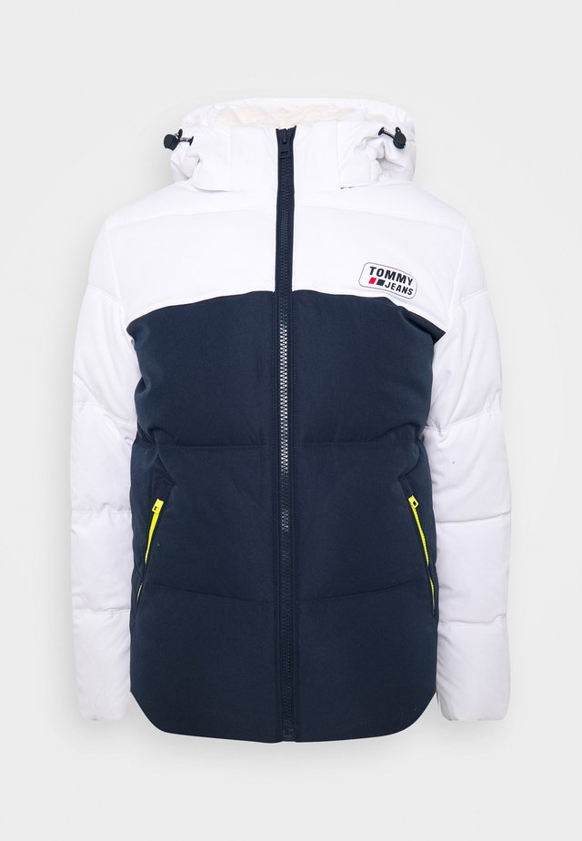 COLORBLOCK JACKET - Winter jacket - white/twilight navy