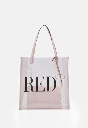 SHOPPER LOGO - Handbag - transparente/nude