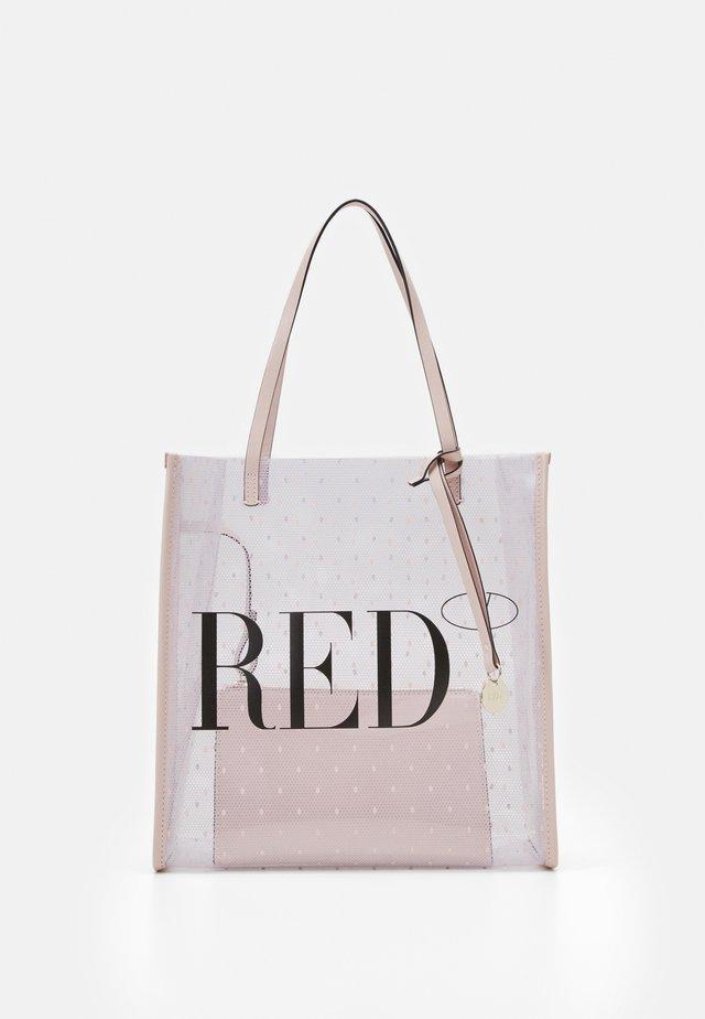 SHOPPER LOGO - Handbag - transparente/nude