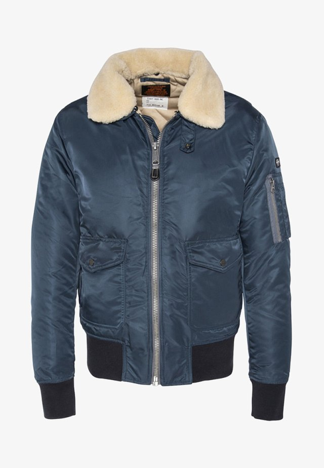 PILOTE - Bomber Jacket - blue