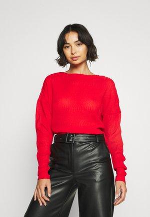 ALINA BLOUSE - Maglietta a manica lunga - fiery red