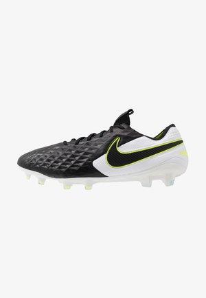 TIEMPO LEGEND 8 ELITE FG - Moulded stud football boots - black/white/volt