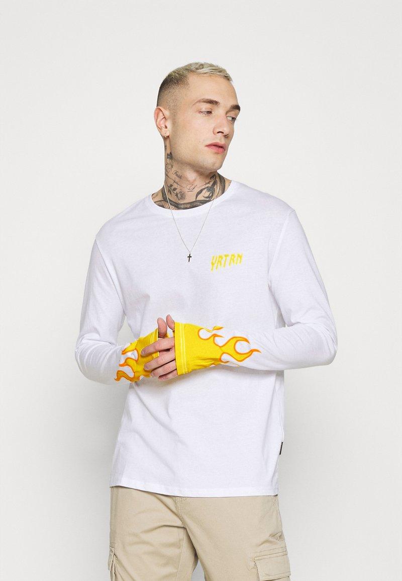 YOURTURN - UNISEX - Top sdlouhým rukávem - white