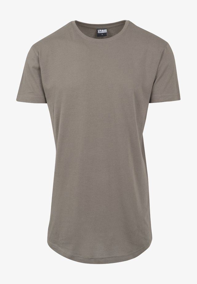 SHAPED LONG TEE DO NOT USE - Jednoduché triko - army green