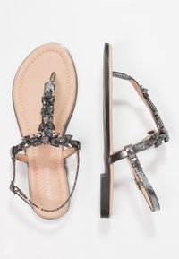 Anna Field - T-bar sandals - dark gray - 2