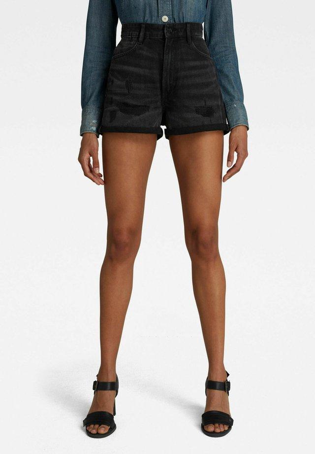 TEDIE ULTRA HIGH - Shorts di jeans - worn in tar black restored