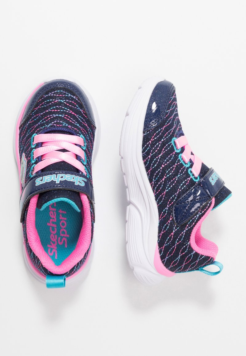 Skechers - WAVY LITES - Sneaker low - navy/pink/multicolor
