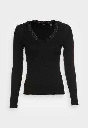 VMHELSINKI DEEP V NECK  - Long sleeved top - black