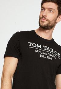 TOM TAILOR - T-shirt print - black - 4
