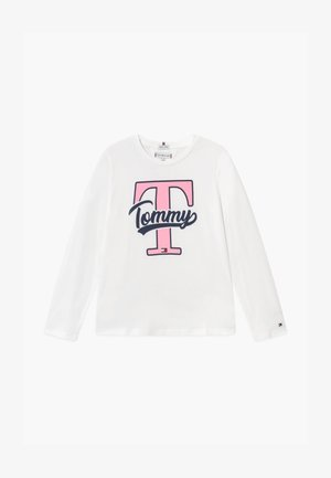 VARSITY GRAPHIC TEE - Long sleeved top - white