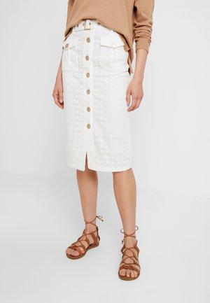 LULU PENCIL SKIRT - Pouzdrová sukně - white