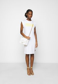 Versace Jeans Couture - ACTIVE DRESS - Jersey dress - optical white - 1