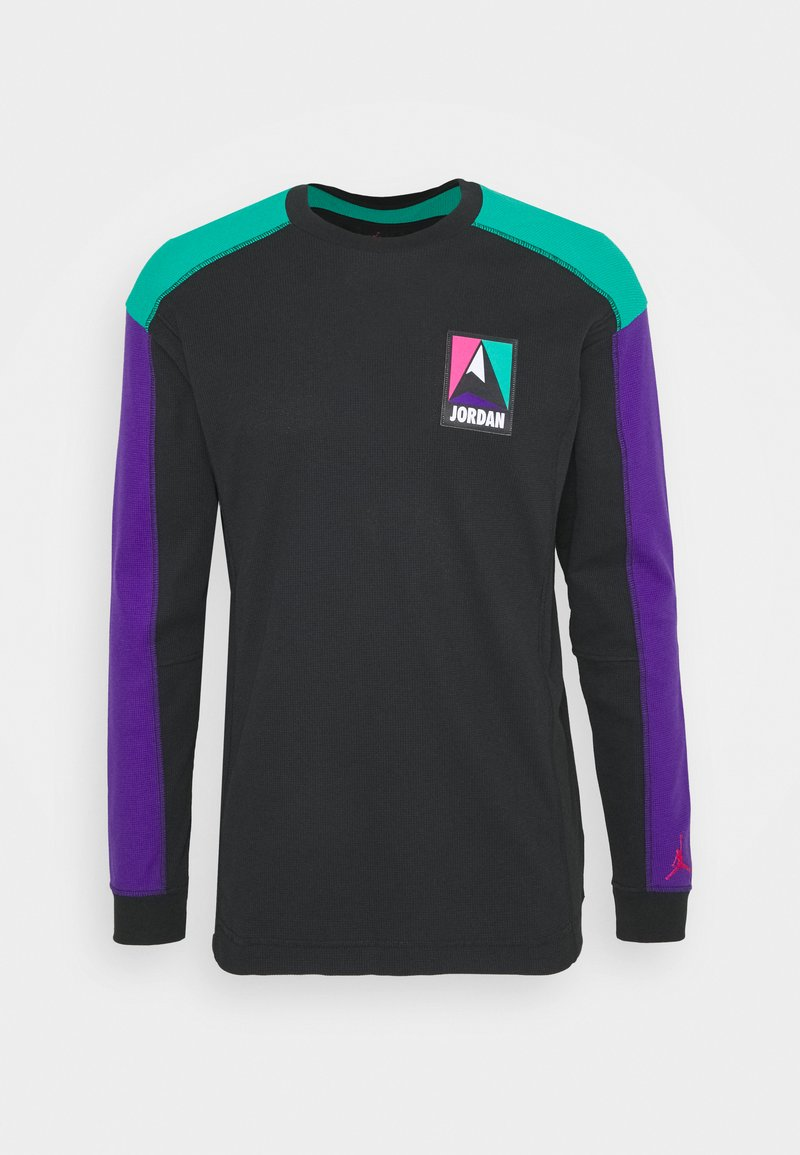 Jordan - MOUNTAINSIDE THERMAL - Long sleeved top - black/neptune green/court purple