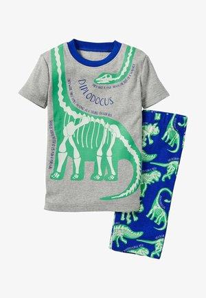 IM DUNKELN LEUCHTENDER  - Pyjama set - grau meliert/blitzblau dinos