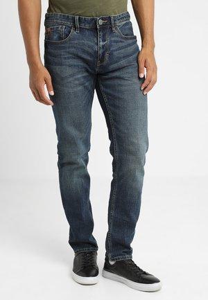 Straight leg jeans - blue denim stretch