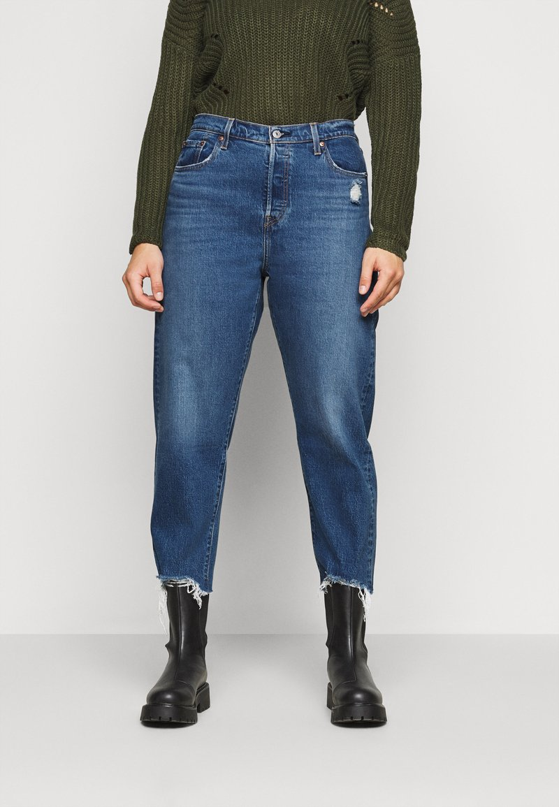 Levi's® Plus - 501® CROP - Jeans slim fit - dark blue denim