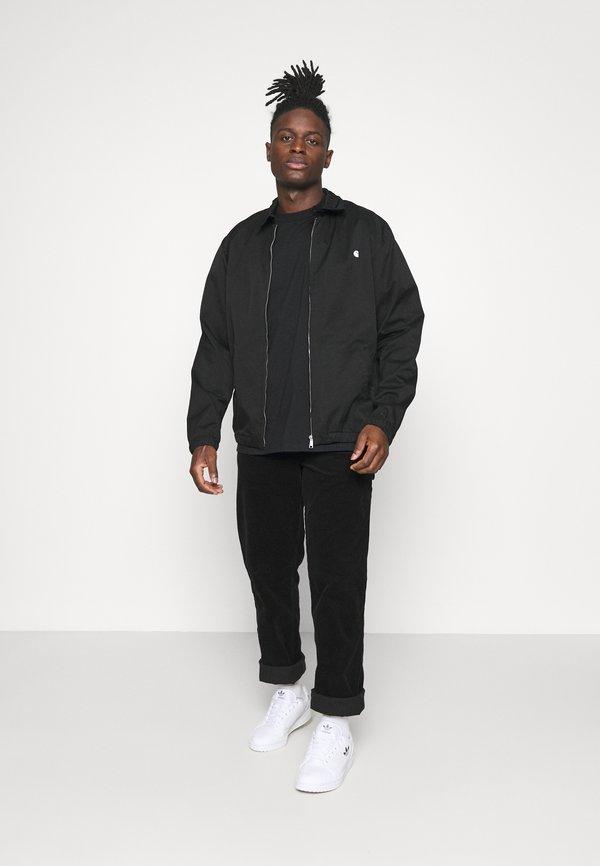 Carhartt WIP WAVY STATE - T-shirt z nadrukiem - black/white/czarny Odzież Męska YEPW