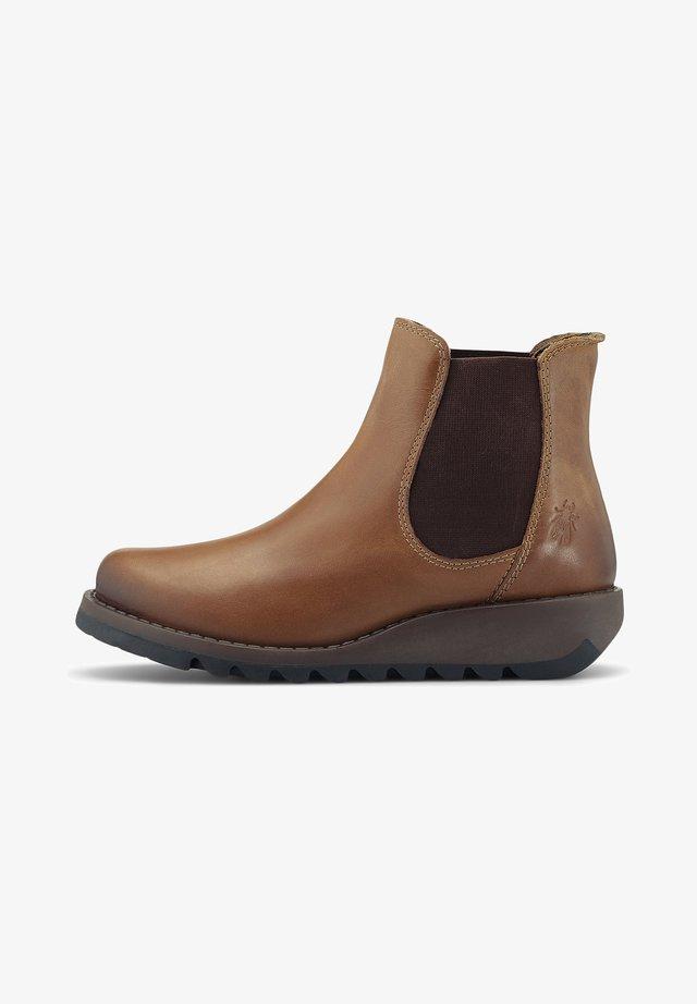 SALV - Platform ankle boots - mittelbraun