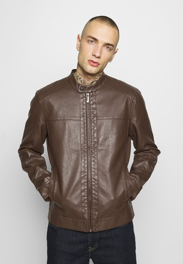 ONSMIKE RACER JACKET - Giacca in similpelle - bison