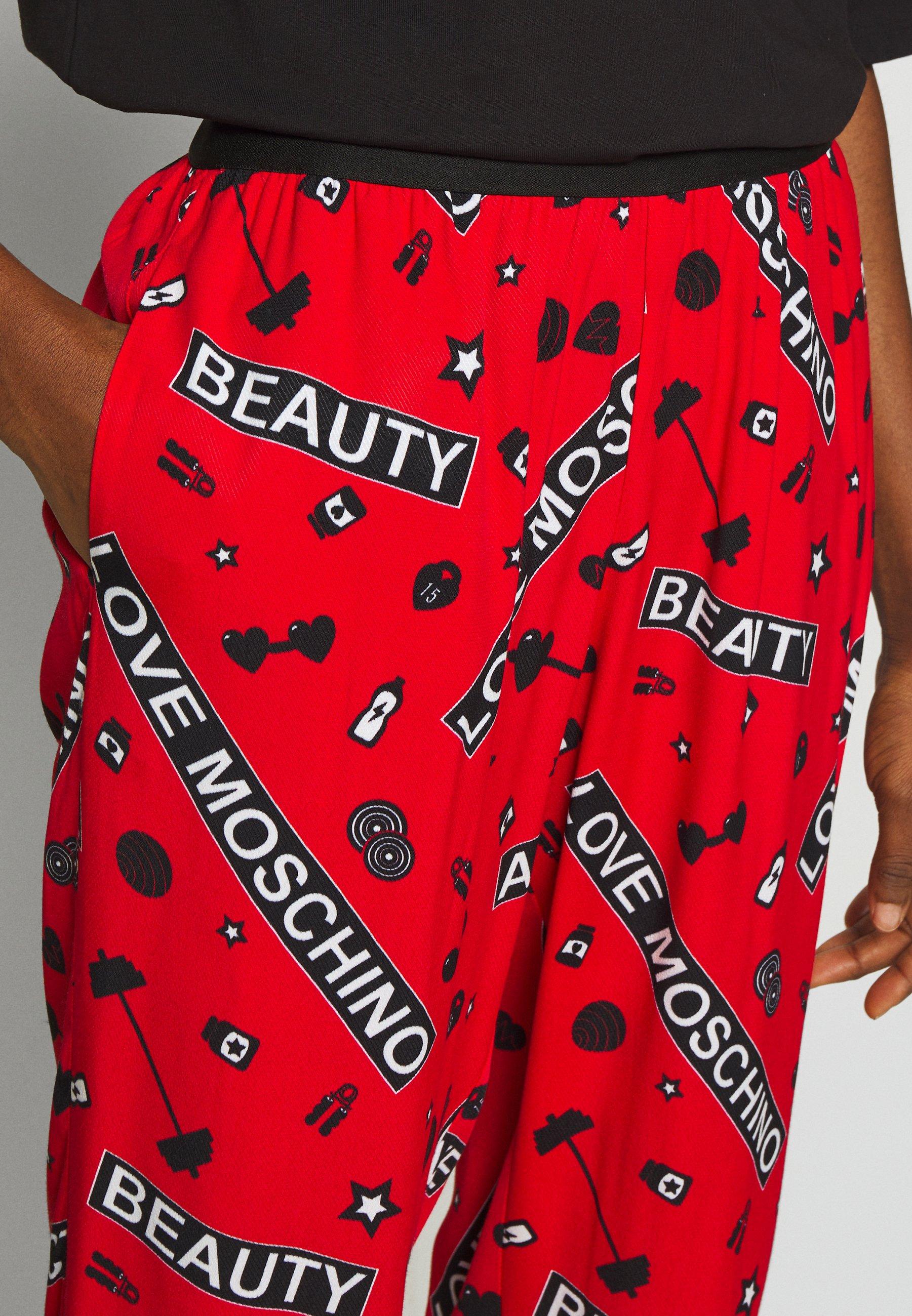 Love Moschino Pantalon classique - gym fondo rosso - Pantalons & Leggings Femme nIi7Z