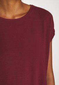Vero Moda - VMAVA PLAIN - T-shirt basic - cabernet - 5