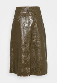 Lovechild - ELOISE SKIRT - Leather skirt - desert palm - 1