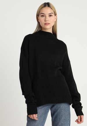 Oversize Turtleneck - Strikkegenser - black