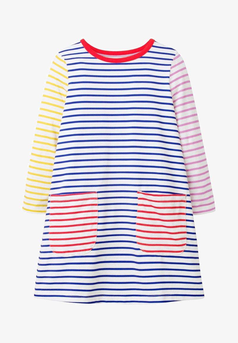 Boden - MIT TASCHE - Jersey dress - naturweiß/blitzblau