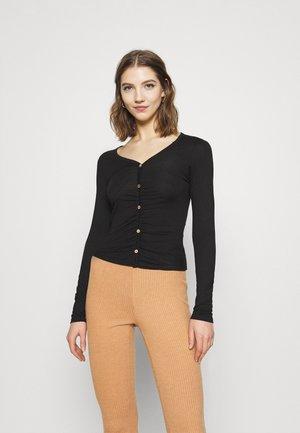 LIGHT BUTTON TOP - Long sleeved top - black