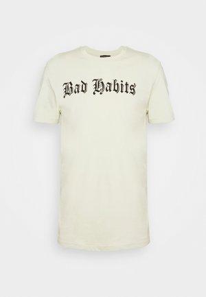 Print T-shirt - aloe wash