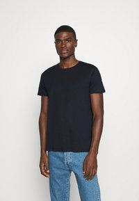 Burton Menswear London - SHORT SLEEVE CREW 5 PACK - T-Shirt basic - black/white/navy/light grey marl/burgundy marl - 5