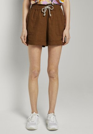 UTILITY TRACK - Shorts - mango brown