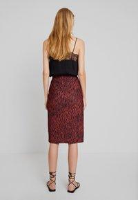 Anna Field - A-line skirt - burnt henna - 2