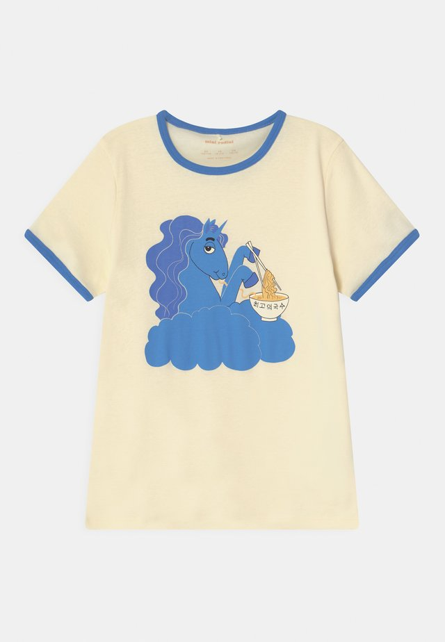 UNICORN NOODLES UNISEX - T-shirt print - blue