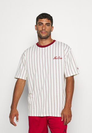 OVERSIZED PINSTRIPE TEE - Club wear - white