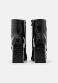 Glamorous Wide Fit - Kotníková obuv na vysokém podpatku - black - 3