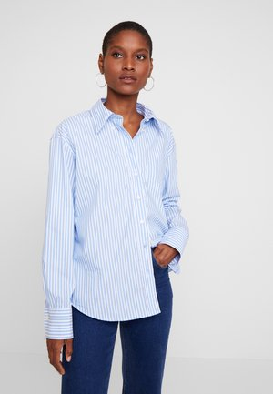 STRIPED BUSINESS - Button-down blouse - pacific blue