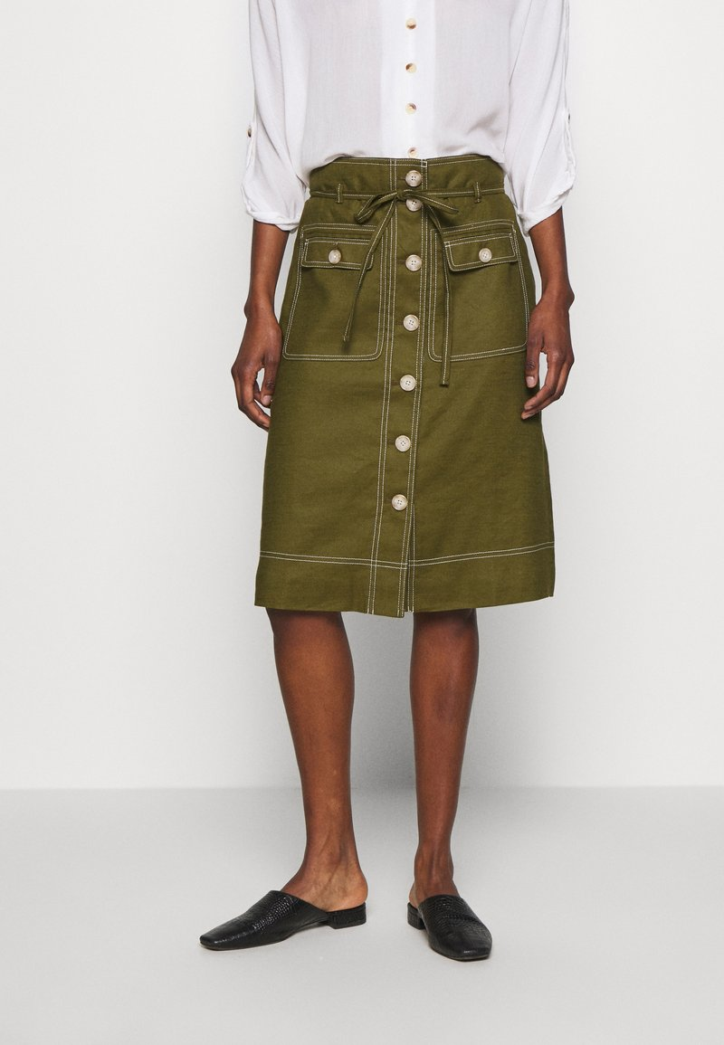 J.CREW TALL - NEW AVERY SKIRT - A-Linien-Rock - olive