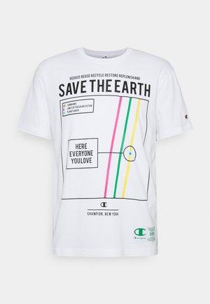 GRAPHIC SHOP CREWNECK - T-shirts print - off-white