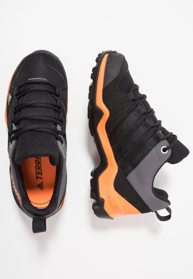 TERREX AX2R RAIN.RDY - Hiking shoes - core black/hi-res orange