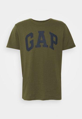 BASIC LOGO - Print T-shirt - army green