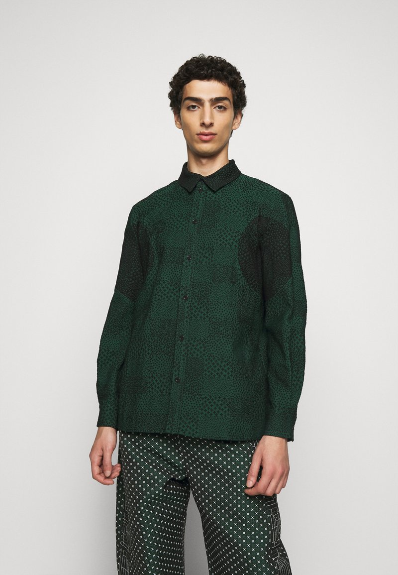 Henrik Vibskov - DOUBLE MIRROR SHOWERTILES - Shirt - black / dark green