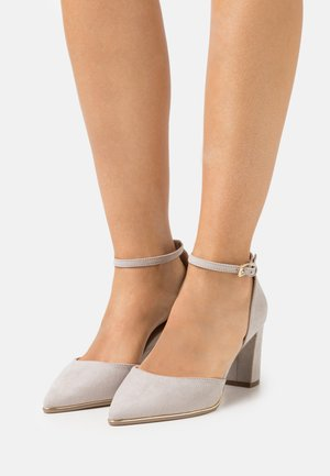 WIDE FIT EVOKE - Classic heels - grey marl
