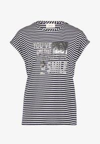 Cartoon - Print T-shirt - dunkelblau/weiß - 3