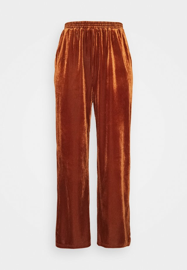 PCVINKY WIDE PANTS - Spodnie treningowe - adobe