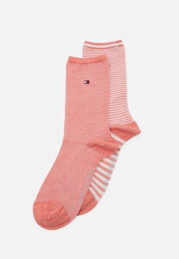 WOMEN SOCK SUMMER STRIPE 2 PACK - Socks - coral