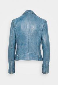 Gipsy - FAVOUR LAMAXV - Leather jacket - light blue - 1