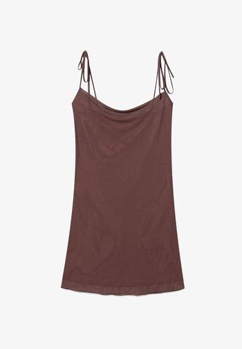 MESH IN LINGERIE-OPTIK  - Vestito elegante - brown