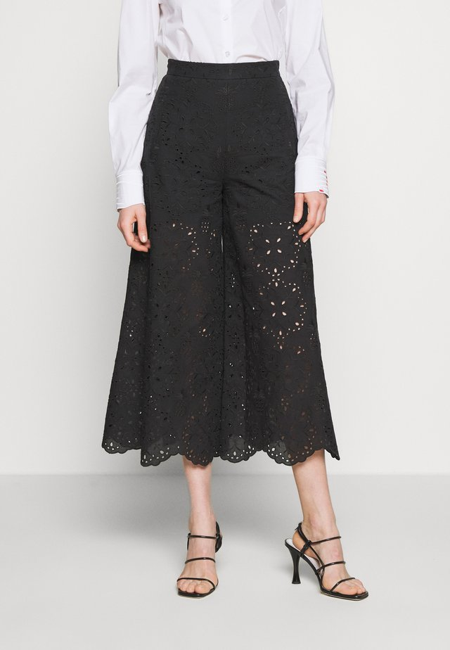 PANT - Trousers - fantasia nera