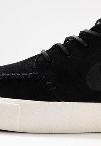 Nike SB - ZOOM JANOSKI MID CRAFTED - Korkeavartiset tennarit - black/pale ivory - 5